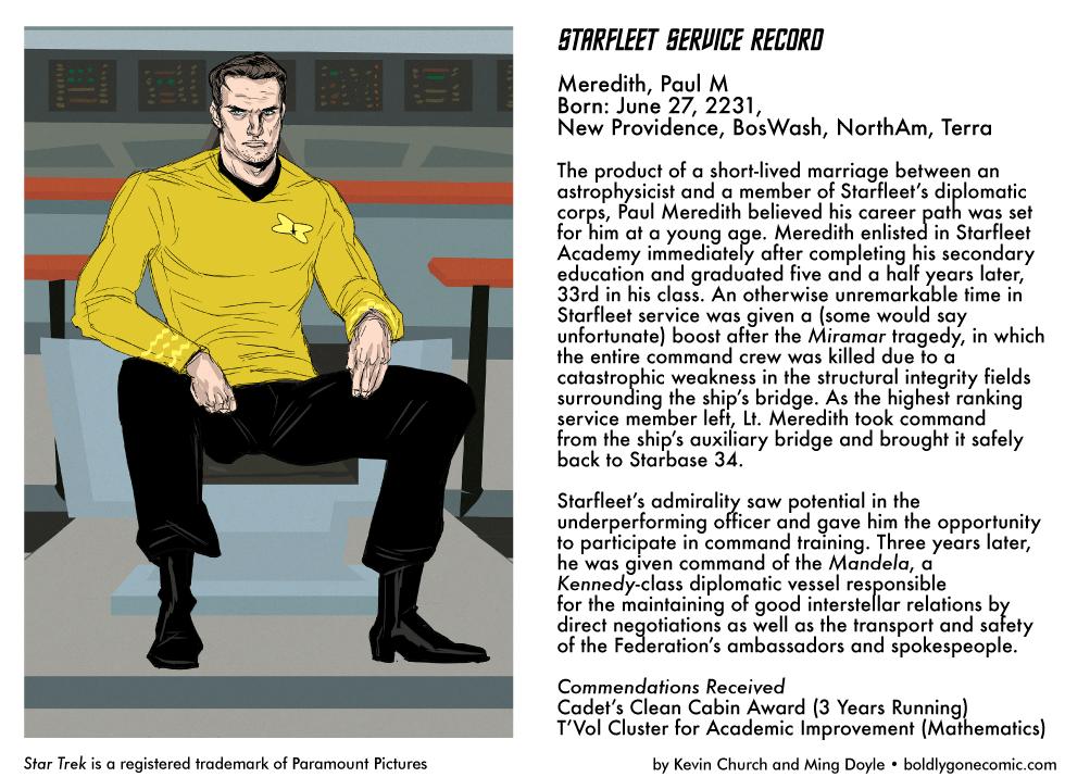 Starfleet Service Record: Paul Meredith