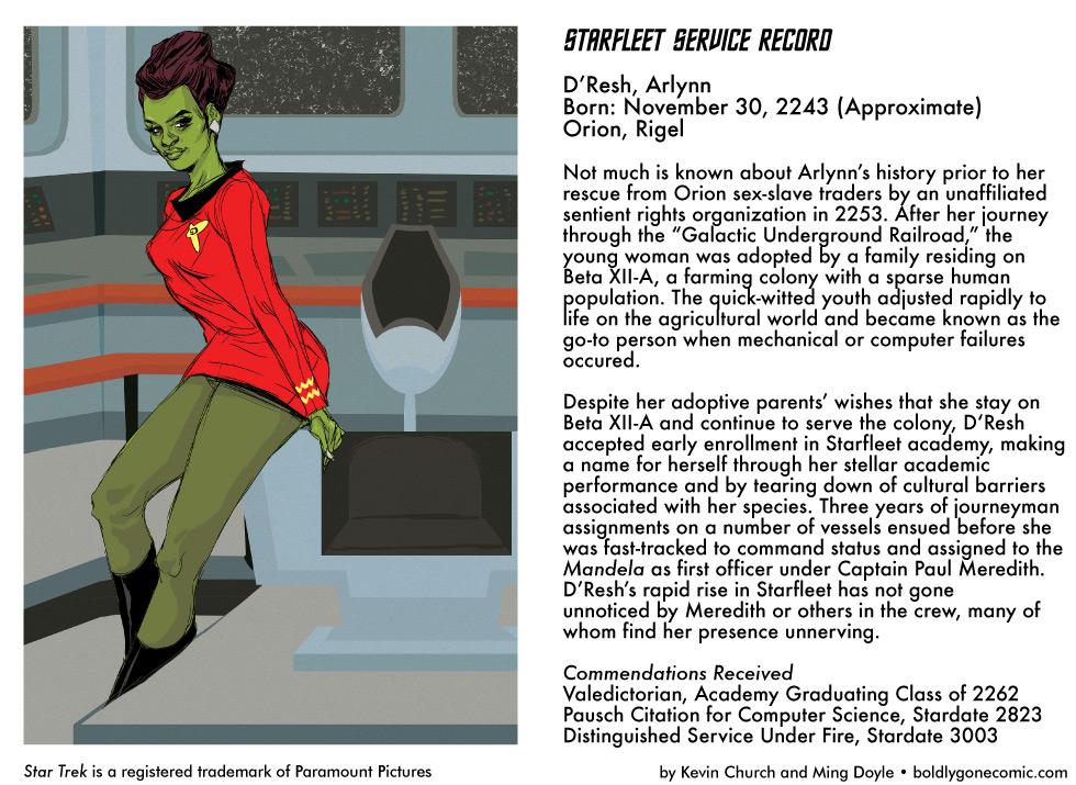 Starfleet Service Record: Arlynn D'Resh