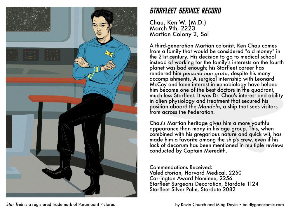 Starfleet Service Record: Dr. Ken Chau